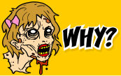 why a zombie sticker?